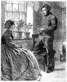 Old-fashioned,Heterosexual Couple,Couple,Love,People,Victorian Style,19th Century Style,Engraved Image,Embarrassment,Sadness,Discussion,History,Communication,Dating,People,Black And White,Separation,Fashion,Concepts And Ideas,Seduction,Old Costumes,Old,Men,Line Art,Group Of People,Antique