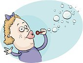 Bubble Wand,Bubble,Blowing,Child,Soap Sud,Activity,Little Girls,Inflating,Playing,Leisure Activity,Recreational Pursuit,Hair Bow,Satisfaction,Vector,One Person,Playful,Purple,Flying,Hovering,Gliding,Bow,Enjoyment,Mid-Air,Bright,Air,Celebration,Carefree,Cartoon,Ilustration,Fun