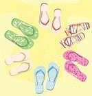 Flip-flop,Travel Locations,Beaches,Shoe,Beach,Multi Colored,Sand