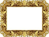 Picture Frame,Frame,Gold,Gold Colored,Baroque Style,Ornate,Antique,Pattern,Design,Old-fashioned,Painted Image,Elegance,Image,Illustrations And Vector Art,Isolated Objects,Vector Backgrounds,Vector Ornaments,Decoration,Empty,Retro Revival,No People,Blank,Luxury,Deco