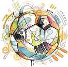 Soccer,Sport,Variation,Dirty,Soccer Ball,Pattern,Doodle,Incomplete,Chaos,Drawing - Art Product,Painted Image,Symbol,Team Sport,Circle,Striped,Watercolor Paints,Watercolor Painting,Ilustration,Team Sports,Drop,Arts Abstract,Vector,Leather,Multi Colored,Competition,Sports And Fitness,Arts And Entertainment