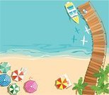 Directly Above,Jetty,Beach,Nautical Vessel,Bridge - Man Made Structure,Palm Tree,Coastline,Sailing Ship,Beach Umbrella,Summer,Sea,Landscape,Vacations,Sand,Tree,Tropical Climate,Tropical Tree,Cruise Ship,Water,Climate,Seagull,Bird,Travel,Sky,Seascape,Abstract,Sun,Nature Backgrounds,Holidays And Celebrations,Illustrations And Vector Art,Non-Urban Scene,Sunlight,Water,Sports And Fitness,Relaxation