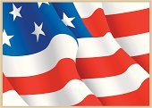 American Flag,Flag,USA,American Culture,Vector,Star Shape,Striped,Red,Blue,White,Ilustration,North America