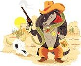 Armadillo,Wild West,Cowboy,Vector,Cartoon,Macho,Gun,Cactus,Toughness,Rattlesnake,Animal Skull,Desert,Sheriff,Ilustration,Illustrations And Vector Art,Wild Animals,Vector Cartoons,Industry,Animals And Pets,Law Enforcement And Crime,Boot,Handgun,Characters,Hat,Canyon,Alcohol,Bottle
