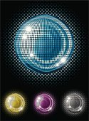 Bling Bling,Disco,Disco Ball,Nightclub,Party - Social Event,Shiny,Sphere,Set,Halftone Pattern,Isolated On Black,Isolated,Illustrations And Vector Art,Parties,Vector Icons,Entertainment,Clubbing,Vector,Holidays And Celebrations,Celebration,Ilustration,Nightlife,Multi Colored