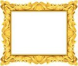 Picture Frame,Gold,Gold Colored,Ornate,Antique,Luxury,Old-fashioned,Elegance,Vector,filigree,Ilustration,Intricacy,Swirl,Pattern,Leaf,Curve,Complexity,Arts Backgrounds,Visual Art,Illustrations And Vector Art,Arts And Entertainment