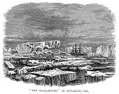 Antarctica,Explorer,Challenge,Nautical Vessel,Victorian Style,Sailing Ship,Tabular Iceberg,History,Armed Forces,Old-fashioned,Iceberg - Ice Formation,Tall Ship,Arctic,Military,Ilustration,Old,Arctic Ocean,Exploration,Major Ocean,Concepts And Ideas,Image Created 19th Century,Styles,Obsolete,19th Century Style,The Past,Engraved Image,Mast,Transportation,Navy,Historical Ship,Mode of Transport,Sea,Royal Navy,Ice,Medicine And Science,Water,Sailing,British Military,Vessel Part,Adventure,Antique