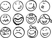 Smiley Face,Smiling,Human Face,Symbol,Happiness,Cheerful,Computer Icon,People,Icon Set,Sketch,Emotion,Furious,Displeased,Drawing - Art Product,Anger,Facial Expression,Fun,Women,Sign,Bizarre,Men,Caricature,Little Boys,Human Tongue,Circle,Eyeglasses,Set,freehand,Ilustration,Design,Vector,Joy,Outline,Licking,Clip Art,Shape,Black And White,Pigtails,Whistling,Cap,Computer Graphic,Design Element,Paintbrush,Resourceful,Digitally Generated Image,Beard,Illustrations And Vector Art,graphic elements,People,Lifestyle