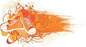 Sports Shoe,Shoelace,Graffiti,Shoe,Teenager,Dress Shoe,Sport,No People,Retro Revival,Casual Clothing,Flower,Canvas,Backgrounds,Youth Culture,Swirl,Pair,Modern Rock,Vector Cartoons,Illustrations And Vector Art,Fashion,Gym-shoes,Hand-drawn,Paint,Ink,Lace,Group of Objects,Two Objects,Floral Pattern,Sports Backgrounds,Ilustration,Vector,Fashion,Beauty And Health,Drawing - Art Product,Drop,Sports And Fitness
