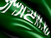 Saudi Arabia,Arabia,Flag,render,Illustrations And Vector Art,National Flag,Waving,Three-dimensional Shape,Middle East,Ilustration,Close-up