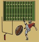 Football,American Football - Sport,Punting,Playing,Punt Kicker,Football Player,Ball,Team Sport,Sport,Professional Sport,Ilustration,Competitive Sport,Athlete,End Zone,Sports Equipment,Playing Field,All Star,Vector,Goal Post
