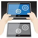 Digital Tablet,Holding,Touching,Computer Icon,Computer,International Landmark,Mobility,Gesturing,Human Hand,PC,3g,Mobile Pc,Computer Software,Pc Tablet,mobile computer,Flat Screen,Tablet Screen,Slate Computer,Smart Tablet,Connection,On The Move,Wireless Technology,Equipment,Laptop,apps,user interface,Application Software,Internet,Digitally Generated Image,Digital Display,Touch Screen,Visual Screen,Bluetooth,4g