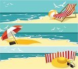 Beach,Summer,Banner,Deck Chair,Parasol,Sunshade,Vector,Vacations,Sea,Relaxation,Chair,Sand,Windbreak,Sky,Sunglasses,Ilustration,Hat,Heat - Temperature,Ball,Sunlight,Lounge Chair,Tropical Climate,Radio,Seagull,Backgrounds,Weather,Season,Holiday Backgrounds,Nature,Illustrations And Vector Art,Holidays And Celebrations,Summer