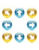 Interface Icons,Push Button,Symbol,Shiny,Downloading,Computer Icon,Sphere,The Way Forward,Moving Up,upload,Back Arrow,Moving Down,Vector,Sign,Circle,Set,Blue,White,Shadow,Yellow,Ilustration,Diagonal,Isolated On White,Reflection,Isolated