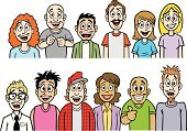 People,Friendship,Humor,Happiness,Bonding,Togetherness,Homosexual,Cheerful,Caucasian Ethnicity,African-American Ethnicity,Multi-Ethnic Group,Audience,Crowd,Cheering,Homosexual Couple,Heterosexual Couple,Meeting,Adult,Illustration,Celebration,Cartoon,Group Of People,Males,Men,Females,Women,Social Gathering,African Ethnicity