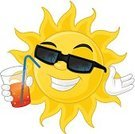 Sun,Sunglasses,Smiling,Drink,Cool,Happiness,Summer,Characters,Isolated,Isolated On White,Summer,Holidays,Travel Locations,Illustrations And Vector Art,Single Object,Nature