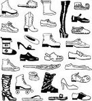 Shoe,Converse,Ice Skate,Roller Skate,Dress Shoe,Sports Shoe,Doodle,Boot,Drawing - Art Product,Canvas Shoe,High Heels,Snow Boot,Moccasin,Hiking Boot,Icon Set,Cowboy Boot,Loafers,Pencil Drawing,Slipper,Rubber Boot,Sketch,Work Boot,Baby Booties,Ballet Slipper,Snowshoe,Clogs,wingtip,Brogue,Mary Janes,Black And White,Stiletto,Diving Flipper,Sandal,Platform Shoe,Ski Boot,Beauty And Health,Fashion,Vector Cartoons,Pump Shoe,saddle shoe,Vector Icons,Flip-flop,Thigh High Boot,Illustrations And Vector Art,Line Art,Sports Footwear
