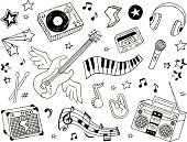 Music,Doodle,Musical Note,Sketch,Rock and Roll,Guitar,Piano,Drawing - Art Product,Icon Set,Wing,Artificial Wing,Modern Rock,Piano Key,Punk,Amplifier,Turntable,Microphone,Symbol,Bar,Headphones,Audio Cassette,Boom Box,Star Shape,Oldies Rock and Roll,Electric Guitar,Grunge,Personal Stereo,Heavy Metal,CD Player,Psychedelic Music,Flying,Treble Clef,Personal Cassette Player,Alternative Rock,Spread Wings,Drumstick,Pop Rock,Vector Cartoons,Music,Illustrations And Vector Art,Arts And Entertainment,Vector Icons,Classic Rock,Light Rock
