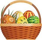 Basket,Pannier,Easter Egg,Easter,Wicker,Eggs,White,Gift,Multi Colored,Collection,Set,Illustrations And Vector Art,Isolated Objects,Ilustration,Isolated-Background Objects,Holidays And Celebrations,Easter,Vector Cartoons,White Background,Vector,Holiday,Braided
