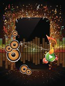 Music,Wave,Frame,Backgrounds,Picture Frame,Wave Pattern,Musical Note,Grunge,Vector,Copy Space,Stop,Stopping,Music,Arts And Entertainment,Concepts And Ideas,Play,Shiny,Illustrations And Vector Art,Communication,Vector Backgrounds,Interface Icons,Resting,Sound Mixer,Button,Speaker