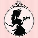 Cupcake,Cake,Teenage Girls,Women,Retro Revival,Princess,Old-fashioned,Silhouette,Picture Frame,Chef,1940-1980 Retro-Styled Imagery,Baking,Baker,Cartoon,Cameo Brooch,Crown,Female,Ilustration,Wallpaper,Elegance,Fashion,Vector,Pink Color,Cute,Ornate,Scroll Shape,Tiara,Profile View,People,Pastel Colored,Characters,Decoration,One Person,Wallpaper Pattern,Style,People,Illustrations And Vector Art,Food And Drink,Vector Cartoons,Baking