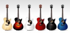 Guitar,Acoustic Guitar,Musical Instrument,Blue,Music,White,Red,Musical Instrument String,Tuning Peg,Sound,Black Color,Illustrations And Vector Art,Vector Cartoons,Vertical,Vector Icons,Wood - Material,Color Image,Classical Style,Elegance,Cultures