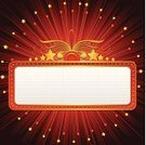 Movie Theater,Theatrical Performance,Theater Marquee,Sign,Frame,Lighting Equipment,Exploding,Star Shape,Billboard,Neon Light,Banner,Announcement Message,Old-fashioned,Backgrounds,Placard,Abstract,Glowing,Red,Night,Colors,Black Color,Vector,Blank,Design,Entertainment,Advertisement,Shiny,Dark,Yellow,Ilustration,Vector Backgrounds,Copy Space,Illustrations And Vector Art