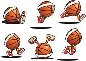Basketball - Sport,Basketball,Characters,Sport,Mascot,Vector,Ball,Headband,Jumping,Fun,Dancing,Twisted,Set,Cartoon,Cute,Bouncing,Humor,Lying Down,Shadow,USA,Sports Symbols/Metaphors,Multi Colored,Action,Team Sports,Shiny,Sports And Fitness,Orange Color,Red,Vector Cartoons,White,Ilustration,Sitting,Illustrations And Vector Art,Walking,Cool,Isolated On White