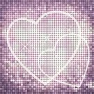 Glitter,Valentine's Day - Holiday,Purple,Heart Shape,Love,Weddings,Valentine's Day,Holidays And Celebrations,Vector Backgrounds,Square,Outline,Symbol,Illustrations And Vector Art