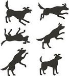 Dog,Silhouette,Jumping,Running,Tail,Walking,Cheerful,Outline,Rolling,Computer Graphic,Black Color,Humor,Playful,Isolated,Small,Puppy,Sitting,Animal,Cartoon,Profile View,Shepherd,Characters,Fun,Hound,Image,Clip Art,White,Painted Image,Mammal,Isolated On White,Standing,Pets,Canine,Ilustration,Vector,Cute,Dogs,No People,Vector Cartoons,Collection,Looking,Illustrations And Vector Art,Cut Out,Design,Animal Tongue,Group Of Animals,Drawing - Art Product,Shape,Animals And Pets