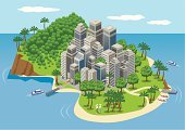 Island,Cityscape,City,Tropical Climate,Beach,Urban Scene,Sea,Pier,Travel,Skyscraper,Tree,Office Building,Architecture,Travel Destinations,Urban Skyline,Tourist,Apartment,People,Natural Parkland,Architecture And Buildings,Palm Tree,Building Exterior,Office Buildings,Water,Real Estate,Road,Built Structure,Holidays,Travel Backgrounds,Travel Locations,Nautical Vessel,tropical island,Vacations,Sand