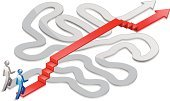 Simplicity,Maze,Effortless,Complexity,Confusion,Bridge - Man Made Structure,Steps,Innovation,Staircase,Accessibility,Challenge,Thoroughfare,Arrow Symbol,Problems,Ladder,People,Ideas,Conquering Adversity,Symbol,Concepts,Ilustration,Stick Figure,White Background,Vector,Isometric,Rivalry,Shiny,Information Symbol,Business Abstract,Success,Business Concepts,Business,Color Image,Design Element,Concepts And Ideas