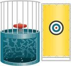 Traveling Carnival,Water,Leisure Games,Target,Water Tower - Storage Tank,Cage,Bubble,Seat,Banner,Ilustration,No People,Dunking Booth,Full,Vector,Dunking Machine,Dunk Tank,Isolated On White,Isolated,Bin/tub,Wet