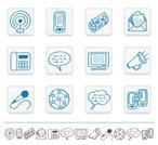 Communication,Computer Icon,Icon Set,Global Communications,Sketch,Drawing - Art Product,Handwriting,Blue,Hand-drawn,Drawing - Activity,Two-dimensional Shape,Design,Vector,Social Networking,Interface Icons,Pencil Drawing,Icon sets,Ilustration,Design Element