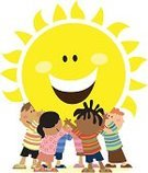 Sun,Child,Cartoon,Teamwork,Cheerful,Happiness,Vector,Group Of People,Ilustration,Holding,Tema,Human Face