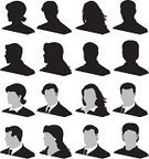 Silhouette,Human Face,Human Head,Business,Head And Shoulders,People,Men,Computer Icon,Businessman,Women,Icon Set,Ilustration,Vector,Tie,Shirt,Black Color,Design Element,Slanted,Suit,business team,Angled View,Well-dressed,Business,People,Illustrations And Vector Art,Business People,Vector Icons