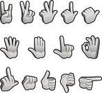 Human Hand,Thumb,Pointing,Human Finger,Cursor,Cartoon,Hand Sign,Computer Icon,Vector,Thumbs Up,Three-dimensional Shape,Obscene Gesture,Icon Set,Fist,Sign,Stop Gesture,Beckoning,Gesturing,Palm,Clip Art,Thumbs Down,Isolated,Ilustration,Peace Sign,Number 8,Isolated On White,Communication,Design,Color Gradient