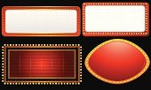 Theater Marquee,Sign,Frame,Billboard,Picture Frame,Film Industry,Lighting Equipment,Red,Banner,Neon Light,Old-fashioned,Backgrounds,Glowing,Exploding,Announcement Message,Black Color,Design,Ilustration,Colors,Advertisement,Yellow,Entertainment,Vector,Dark,Night,Nightlife,Abstract,Vector Backgrounds,Shiny,Copy Space,Illustrations And Vector Art