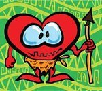 Heart Shape,Caveman,Vibrant Color,Warrior,Vector,Hide,Loin Cloth,Aborigine,Prehistoric Era,Passion,Illustrations And Vector Art,Valentine's Day,Weapon,Animals In The Wild,Red,Colors,Valentine's Day - Holiday,Cartoon,Wood - Material,Green Color,Symbol,February,Vector Cartoons,Holidays And Celebrations,Love,Romance,Hunter,Rod,Color Image,Cute,Fun,Illustration Technique,Spear