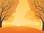 Autumn,Tree,Landscape,Sunset,Nature,Leaf,Scenics,Landscaped,Pattern,Sun,Tranquil Scene,Backgrounds,Abstract,Non-Urban Scene,Rural Scene,Vector,Computer Graphic,August,Ilustration,Sunlight,Orange Color,Digitally Generated Image,September,Morning,October,Growth,Curve,Wave Pattern,Environment,Hill,Fantasy,Back Lit,Smooth,Majestic,agricultural field,No People,Illustrations And Vector Art,Copy Space,Changing Color,Fall,nature scene,Rolling,Vibrant Color,fallen leaves,Intricacy,Vector Backgrounds,Nature Backgrounds,Nature,Horizontal,Ornate