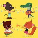 Bear,Animal,Music,Squirrel,Mouse,Cute,Orchestra,Musical Band,Characters,Musical Instrument,Drum,Musical Conductor,Ilustration,Crocodile,Popular Music Concert,Cartoon,Vector,Playful,Playing,Performance,Preschooler,Musician,Guitar,Classical Concert,Drumstick,Pets,Trumpet,Lantern,Clip Art,Sound,Music,Cheerful,Happiness,Confetti,Arts And Entertainment,Garland,Illustrations And Vector Art,Celebration,Recreational Pursuit,Performing Arts Event,Vector Cartoons,Entertainment,Yellow,Skill,Casual Clothing,Baby Animals,Smiling,eduction,Animals And Pets