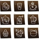 Coffee - Drink,Coffee Cup,Coffee Bean,Icon Set,Symbol,Coffee Cake,Drinks,Illustrations And Vector Art,Food And Drink