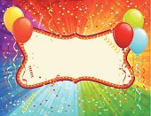 Birthday,Confetti,Balloon,Party - Social Event,Streamer,Rainbow,Frame,Banner,Anniversary,Decoration,Backgrounds,Vector,Placard,Ribbon,Cute,Sign,Birthdays,Blank,Holidays And Celebrations,Ilustration,Party String,Glowing,Celebration,Helium Balloon