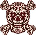 Human Skull,Human Skeleton,Paisley,Tattoo,Single Flower,Halloween,Leaf,Ornate,Human Bone,Human Face,Symbol,Floral Pattern,Pattern,Design,Ilustration,Decoration,Style,Illustrations And Vector Art,Evil,flourishes,Death,Halloween,Vector Backgrounds,Vector Ornaments,Horror,Single Object,Shape,Holidays And Celebrations,Spooky,Shock,Dead Person,Vector