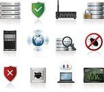 Network Server,Symbol,Computer Icon,Icon Set,Computer Network,Data,Security,Internet,Router,Rack,Cloud Computing,Network Security,Shield,Wireless Technology,Protection,Computer Bug,Searching,Network Connection Plug,Vector,Cloudscape,Globe - Man Made Object,Modem,Laptop,Earth,Magnifying Glass,Padlock