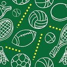 Sports Equipment,Backgrounds,Volleyball,Rugby,Seamless,Football,Baseballs,Basketball,Ball,Badminton,Sketch,Ilustration,Table Tennis,Pattern,Doodle,Outline,Exercising,Vector,Dotted Line,Image,Recreational Pursuit,Relaxation,Rack,Wallpaper Pattern,succor,Line Art,Leisure Activity,Colors,Sphere,Repetition,Tennis Ball,Relaxation Exercise,White,Yellow,Green Color