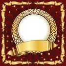 Placard,Ornate,Picture Frame,Floral Pattern,Ribbon,Circle,Red,Luxury,Shiny,Elegance,Illustrations And Vector Art,Arts Abstract,Simplicity,Classic,Design,Old-fashioned,Swirl,Style,Scroll Shape,Arts And Entertainment,Vector Cartoons,Decoration,Retro Revival,Computer Graphic,Gold Colored,Vector,Classical Style