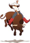 Bull Riding,Bull - Animal,Women,Cowboy,Rodeo,Cowgirl,Riding,Bucking,Wild West,Rearing Up,Texas,Bucking Bronco,Vector,Cowboy Boot,Fun,Anger,Careless,Cattle,Illustrations And Vector Art,Power,white shirt,Danger,Excitement,Actions,Caucasian Ethnicity,Young Adult,Competitive Sport,Cowboy Hat,Jeans,Competition,Brown Hair,Energy,Confidence