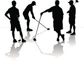 Golf,Foursome,Golf Course,Golf Ball,Ilustration,Recreational Pursuit,Golf Club,Ball,Sports Equipment,Individual Sport,Competitive Sport,Vector,Leisure Activity,Sport,Professional Sport