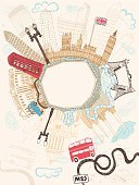 London - England,City,Travel,Picture Frame,Journey,Frame,Urban Scene,Doodle,UK,Famous Place,Bus,Cartoon,Built Structure,Cultures,Ilustration,Vector,Millennium Wheel,Cloud - Sky,London Bridge,Road,Car,Banner,Town,Poster,Big Ben,Taxi,Buckingham Palace,Telephone Booth,Thames River,Cloudscape,City Of Westminster,Architecture,St. Paul's Cathedral,M25 Motorway,Capital Cities,Copy Space